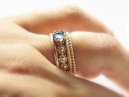 alternative to wedding ring. unique rose cut london blue topaz wedding band- alternative engagement stacking ring - to