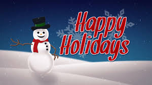 Holidays Snowman Animated Snowman Happy Holidays Card Motion Background Storyblocks
