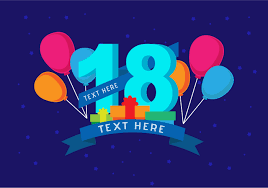 18th birthday background free vector art stock graphics images