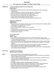 Plant Operator Resume Sample Templates Board Example Samples