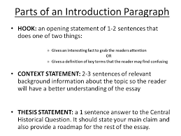 parts of a dbq essay ppt video online  parts of an introduction paragraph