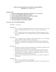 Objective For Childcare Resume Resume For Your Job Application