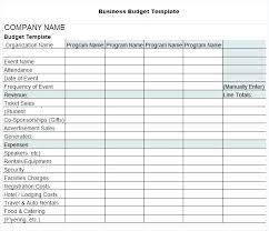 Budget Plan Sample Business Sample Budget Plan Template