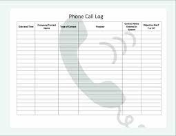 Printable Call Log Templates In Word And Excel For Powerpoint Free