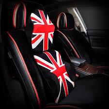uk flag memory foam auto car seat cushion lumbar pillow back waist support red