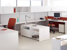 incredible office furnitureveneer modern shaped office. Office Workspace. Exciting Modern Chairs With Rectangle White Multifunctional Desk Racks And Table Incredible Furnitureveneer Shaped E