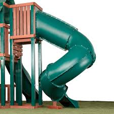 Swirly Slides 7 Ft Turbo Tube Slide For Kids Outdoor Play Set Climber Swingsets Playground Jungle Gyms