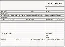 Formato Nota De Credito Magdalene Project Org