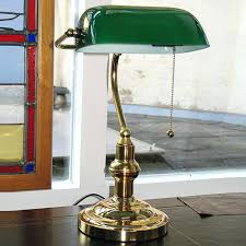 bankers lamp green brass glass shade replacement