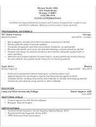 Dental Assistant Resume Sample Classy Resume For Dental Assistant Mkma