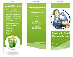 Cleaning Brochure Tri Fold Brochure I Made Myself For My Business Cleaning