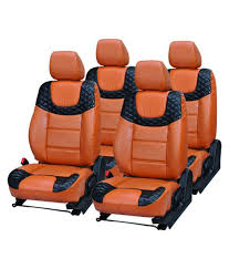elaxa orange seat cover for mahindra scorpio pack of 4 elaxa orange seat cover for mahindra scorpio pack of 4 at low in india on
