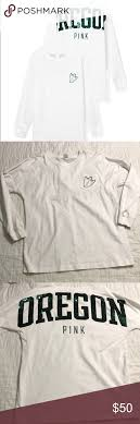 University Of Oregon Fashion Design Pink Victorias Secret Oregon Long Sleeve Shirt Victorias