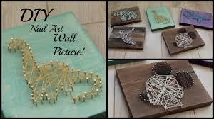 Diy String Art Diy Nail String Art Picture Easy Home Diy Art Youtube