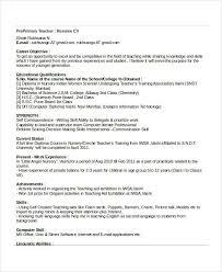 Esl Teacher Resume Sample No Experience Best of 24 Basic Teacher Resume Templates PDF DOC Free Premium Templates