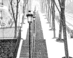 black and white snow photography. Plain Snow Paris Photography Snowy Morning In Montmartre Winter Photography  The Snow Black And White Art Winter Paris Francophile On Black And White Snow Photography A