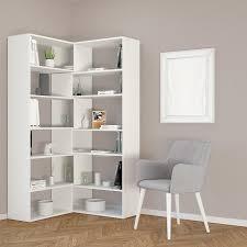 Libreria Ad Angolo Design Libreria Angolare Design Moderno In Legno Bianco Foldy