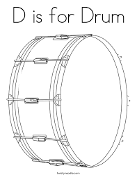 Small Picture D is for Drum Coloring Page Twisty Noodle