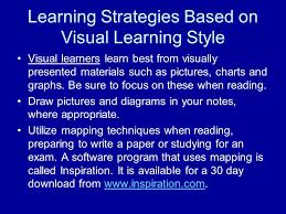 Visual Learning Strategies The Importance Of Knowing Your Learning Style Knowing The