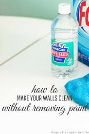 clean walls without removing paint