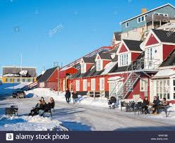 The old town, Nuuk, capital of Greenland. (Editorial Use Only Stock Photo -  Alamy