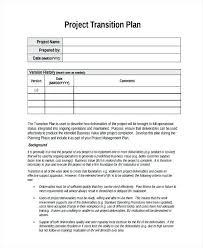 Service Transition Plan Template