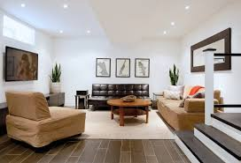 Finish Basement Design Stunning Basement Flooring Ideas Freshome