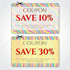 10 Off Coupon Template Discount Coupon Voucher Vector Stripe Background Template With