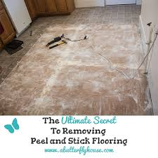 the ultimate secret to removing l and stick floor tile a erfly house