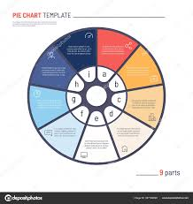 Cu Stock Chart Vector Infographic Circle Chart Template Nine Parts Stock