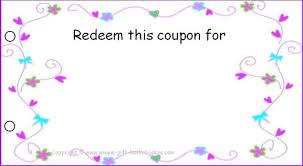 Coupon Template Wordfree Printable Coupon 317937756614 Free