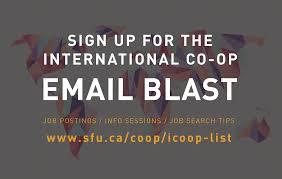 international co op co operative education simon fraser university finding a job