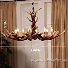 deluxe 8 cast elk antler chandelier candelabra pendant light living room rustic lighting fixtures decoration 43 discount lighting fixtures r41