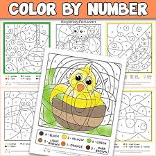 More 100 coloring pages from coloring pages for adults category. Free Printable Color By Number Worksheets Itsybitsyfun Com