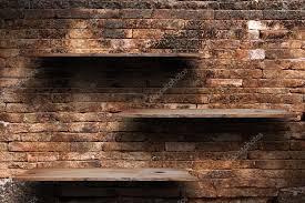 beautiful design shelves on brick wall 15