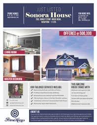Real Estate Advertising Flyer Template Marketing Photoshop Instant