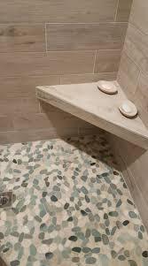 bathroom tiles floor. Stunning Shower Floor Using Sliced Sea Green And White Pebble Tile. Https:// Bathroom Tiles F