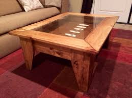 rectangle coffee table with glass top rustic