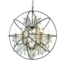 yosemite home decor contessa collection 6 light matte black chandelier
