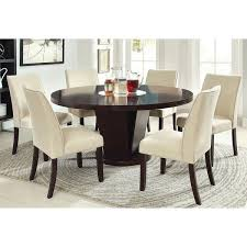 furniture of america lolitia 7 piece espresso round 60 inch dining table set free