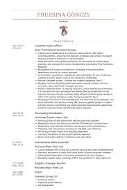 Customer Sales Officer Resume samples