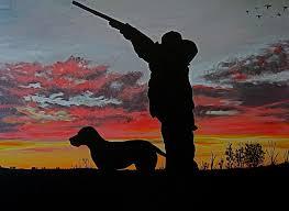 hunting painting hunting at sunset by hilari alsip