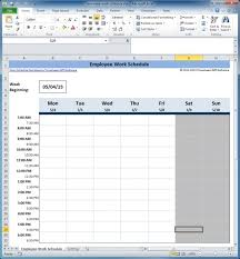 Free Monthly Employee Work Schedule Template Excel Ift
