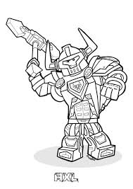 Coloring Page Lego Nexo Knights Lego Nexo Knights On Kids N Funco