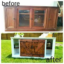 diy furniture makeover ideas. before and after furnitire flip barn doors tv stand console entertainment center diy furniture makeover ideas