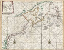 Nautical Charts New England Coast 1750 Mount And Page Map Of Chesapeake Bay New York New
