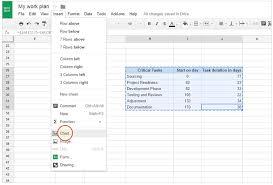 google docs project management step 6 navigating to google docs charts