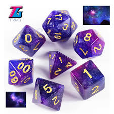 <b>New Trend</b>!<b>Super Universe Galaxy</b> Dice Set of D4 D20,Royal Blue ...
