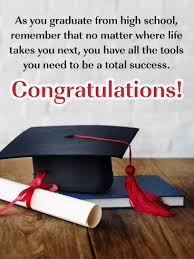 Move To The Next Chapter High School Graduation Card