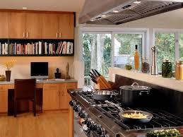office in kitchen. creative corner office in kitchen